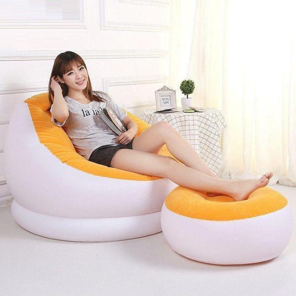 Portable Inflatable Chair Cum Recliner - The Immart