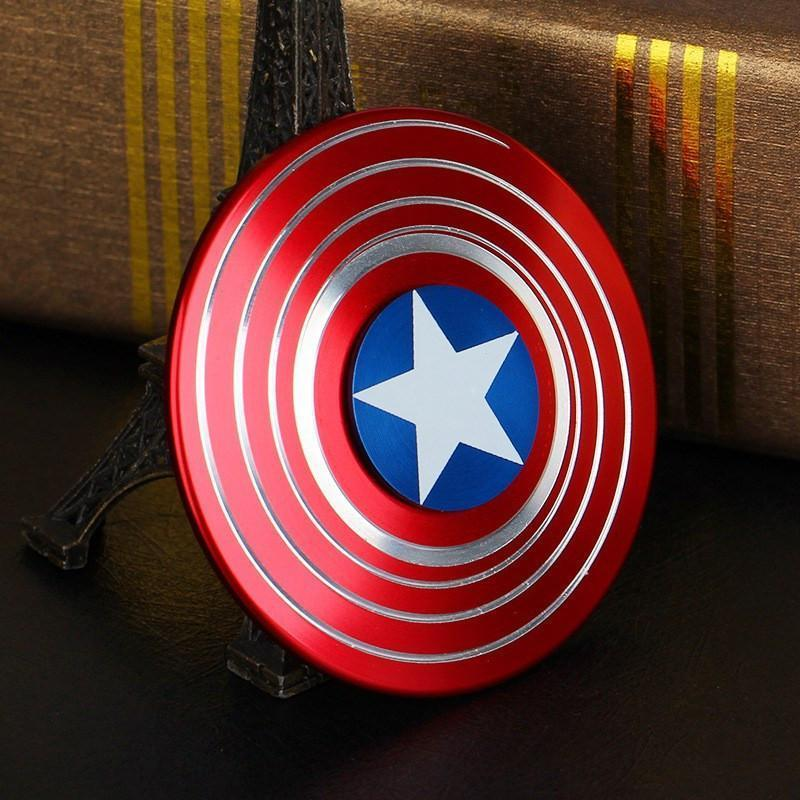 IN INDIA Captain America Shield 2-WAY Illusion Fidget Spinner The Immart