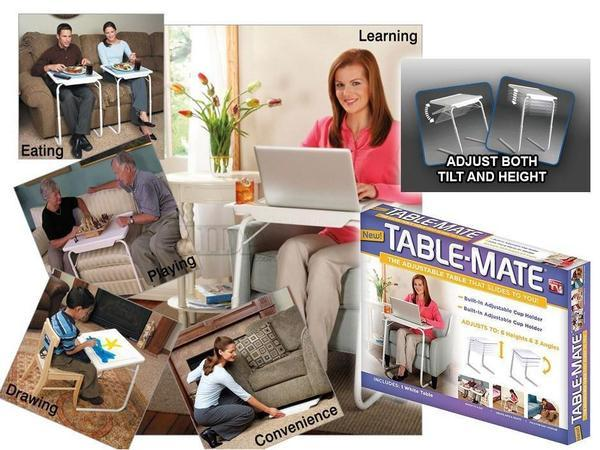 Table Mate 4 With Cup Holder ( Dinner Cum Laptop Table) - The Immart  - 1