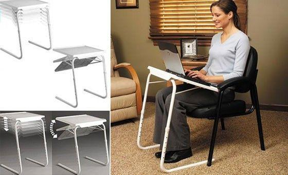 Table Mate 4 With Cup Holder ( Dinner Cum Laptop Table) - The Immart  - 2