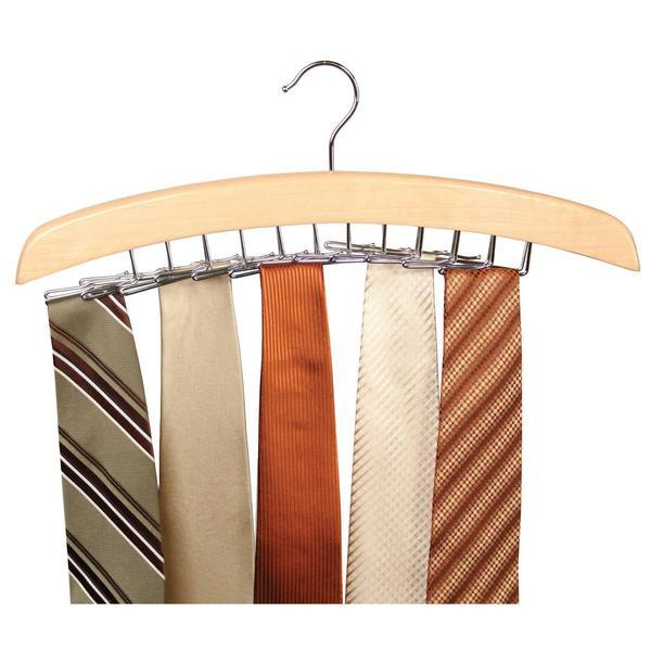 Tie Hanger - Stylish Wodden Made Steel Tie Hanger/Belt Hanger/Scarf Hanger- Set Of 2
