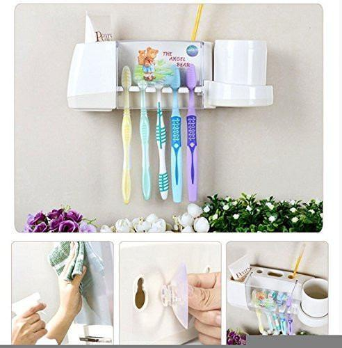 Toothpase - The Angel Bear Suction Cup Toothbrush Holder