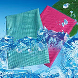 Towel - Sweat Free Instant Cooling Towel - Reduces 5 Degree- Dry But Stores Water - Bacteria Free