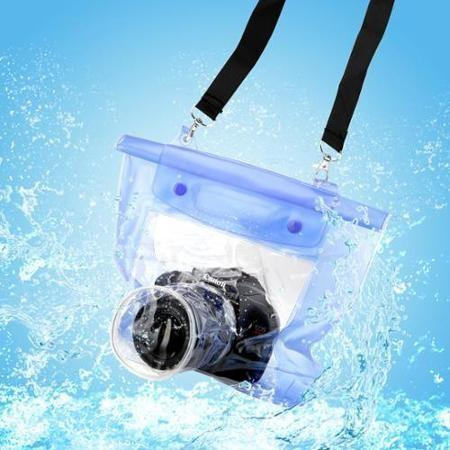 Tuzech Fully Waterproof Pouch For DSLRs (Universal - 80MM Lens) - The Immart