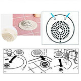 Tuzech Silicone Sink Strainer Floor Drain Cover Hair Catcher Rubber Shower Filter For Bathroom Kitchen
