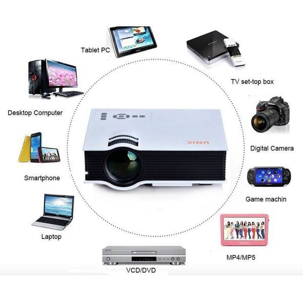 Tuzech Special UNIC UC-40 Plus Gold Home Cum Office Projector - Best Price - The Immart  - 2