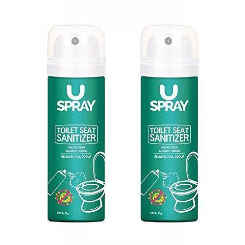Uspray Toilet Seat Sanitizer(Set Of 2)