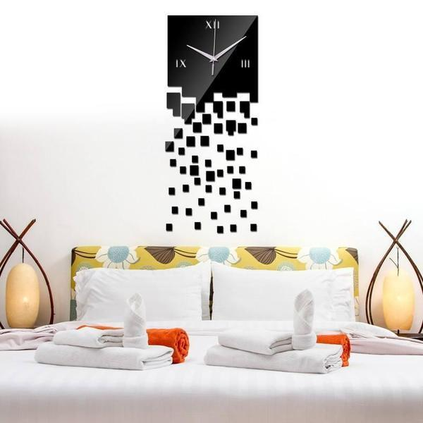Dropping Crystal Effect 3D Wall Clock Vinyl - The Immart