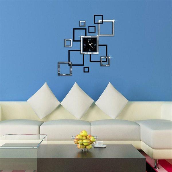 Wall Clocks - TUZECH Mirror Finish  DIY Big Wall Clock