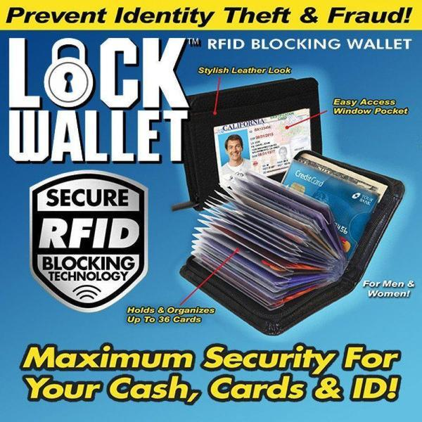 RFID Safe Lock Wallet For Credit Crads/Debit Cards and Cash ( Newly Launched)(ZIPPED) - The Immart - 1