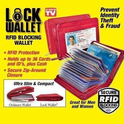 Wallet - RFID Safe Lock Wallet For Credit Crads/Debit Cards And Cash ( Newly Launched)(ZIPPED)