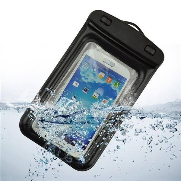 Tuzech Two Buttoned Waterproof Pouch For all Smartphones (Upto 6.6 Inches) - The Immart