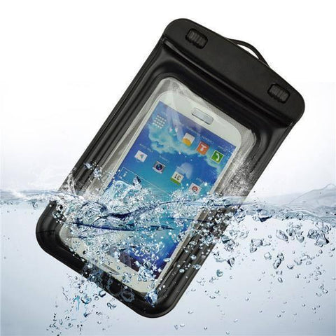 Waterproof - Tuzech Two Buttoned Waterproof Pouch For All Smartphones (Upto 6.6 Inches)