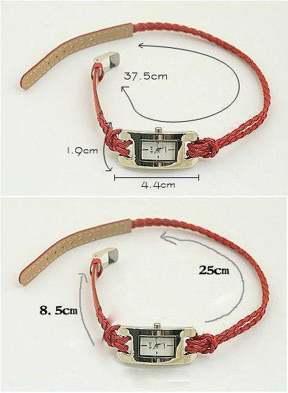 Weaving Leather Bracelet Watch For Girls/Women - The Immart  - 2