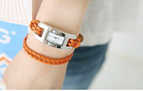 Weaving Leather Bracelet Watch For Girls/Women - The Immart  - 3