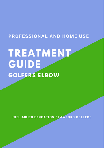 Golfers Elbow Trigger Point Therapy