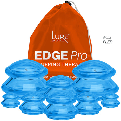 EDGE Flex (Soft) Silicone Cupping Pro Set (8 Cups)