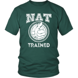 NAT Trained T-Shirt (White Print)