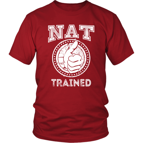 NAT Trained T-Shirt (White/Blue Print)
