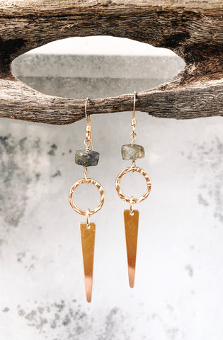 Labradorite and 14k Gold Filled Earrings