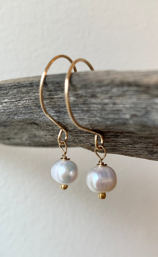 Freshwater Pearl Earrings on 14k Gold Filled Earwires
