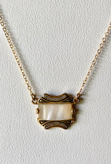 Vintage Spanish Mother of Pearl Necklace