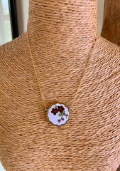 Vintage Enamel Flowers Necklace