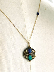 Tibetan Turquoise and Lapis Necklace