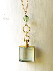 Square Glass Locket Necklace