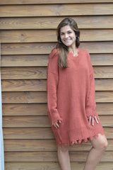 Life On The Edge Longline Sweater Dress