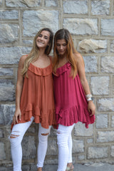 Ruffled and Ready A-line Top