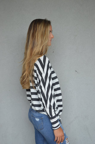 Get in Line Striped Top