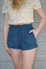Ready to Mingle Suede Shorts