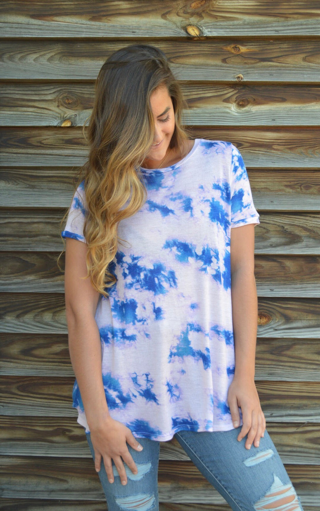 Cotton Candy Sky Tie Dye Tee
