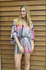 Truth Be Bold Tie Dye Romper