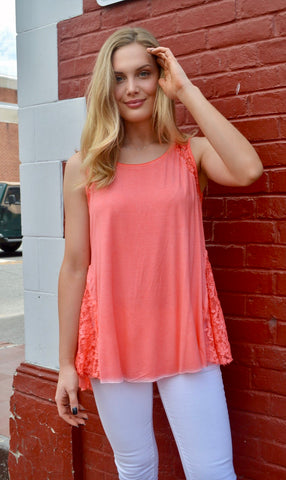 Soul Happy Lace Detail Top