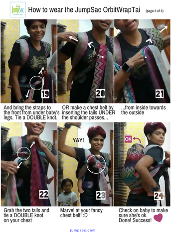 How to Wear the JumpSac OrbitWrapTai in the Back Carry, Page 4 of 4