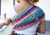 Bombora Waves in Espresso (Ring Sling)