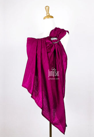 Hot Pink Raw Silk (Ring Sling)