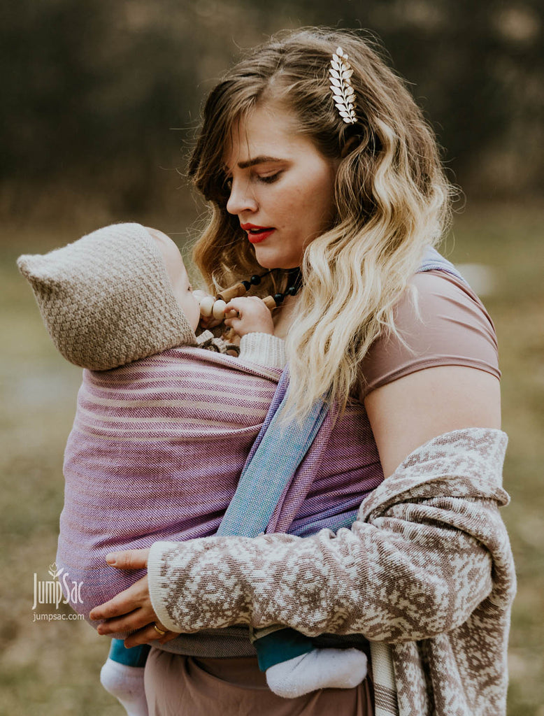 Solace Wisteria Woven Wrap Jumpsac