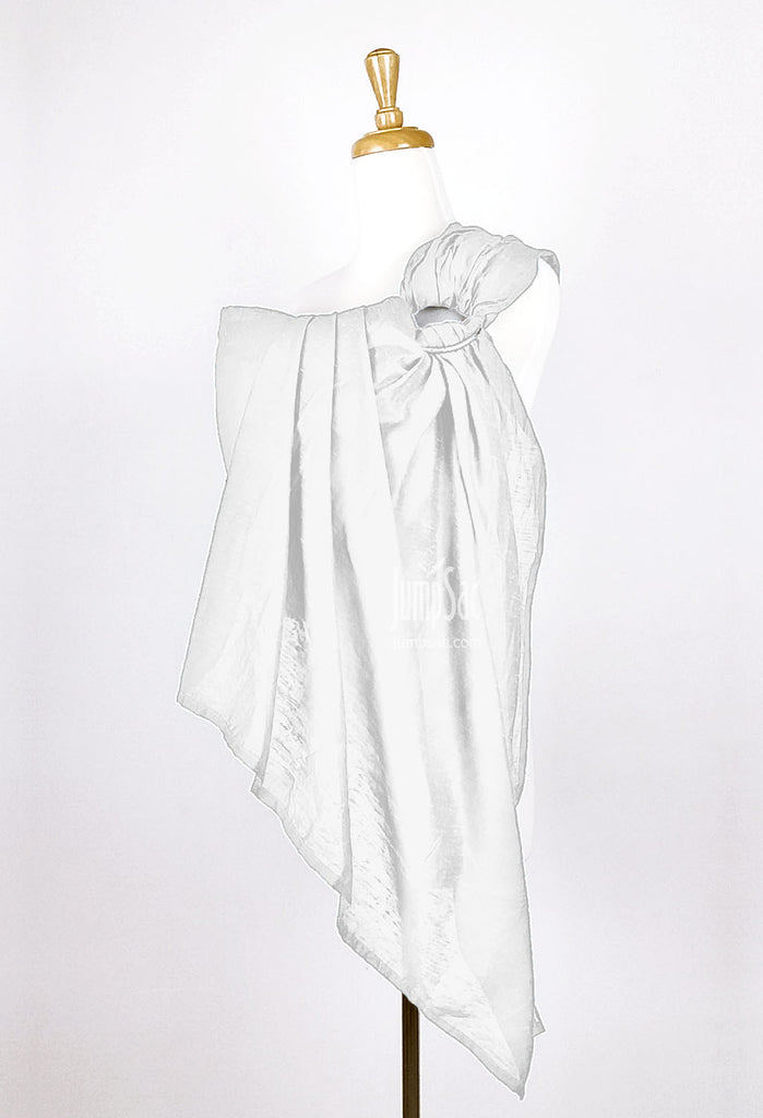 Chantilly White Raw Silk (Ring Sling)