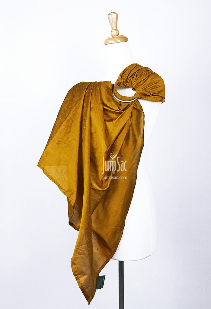 Yellow Gold Raw Silk (Ring Sling)