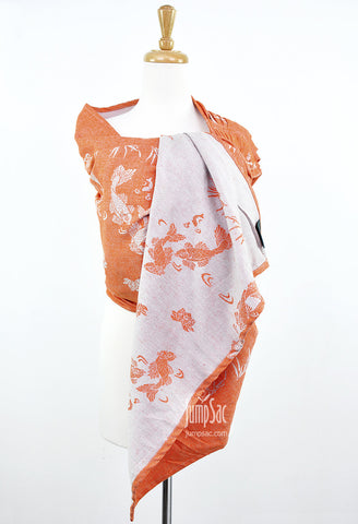 Sakana Koi in Muted Orange (Reverse) (Ring Sling)