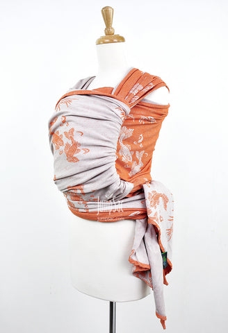 Sakana Koi in Muted Orange (Woven Wrap)