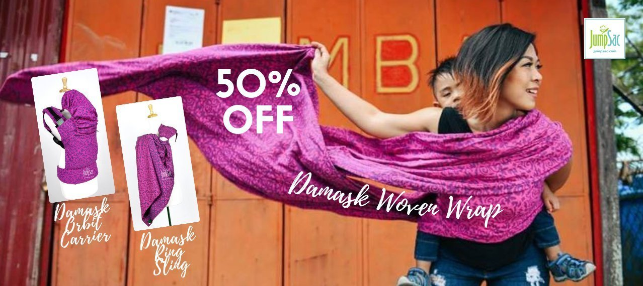 50% OFF JumpSac Damask Woven Wrap, Orbit Carrier, Ring Sling, etc.