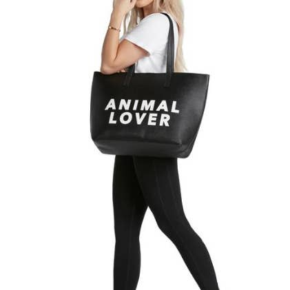 Vegan Leather Tote - Animal Lover