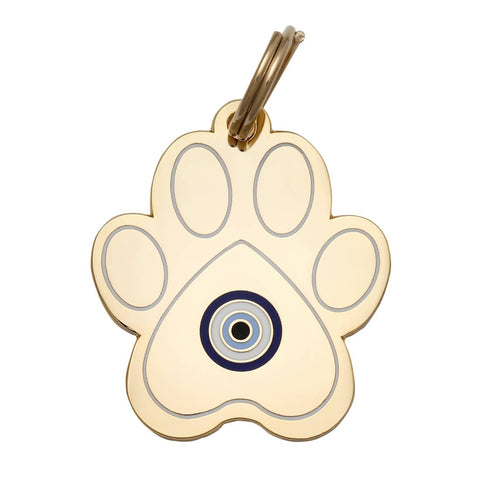 Evil Eye Paw Pet ID Tag
