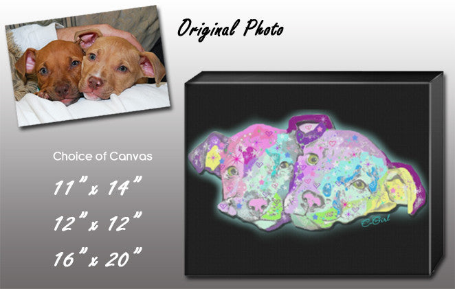 "Custom Pet Portrait 16"" x 20"" Canvas"