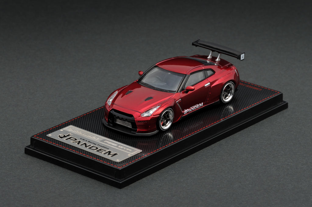 Ignition Model 1/64 Pandem R35 GT-R Metallic Red