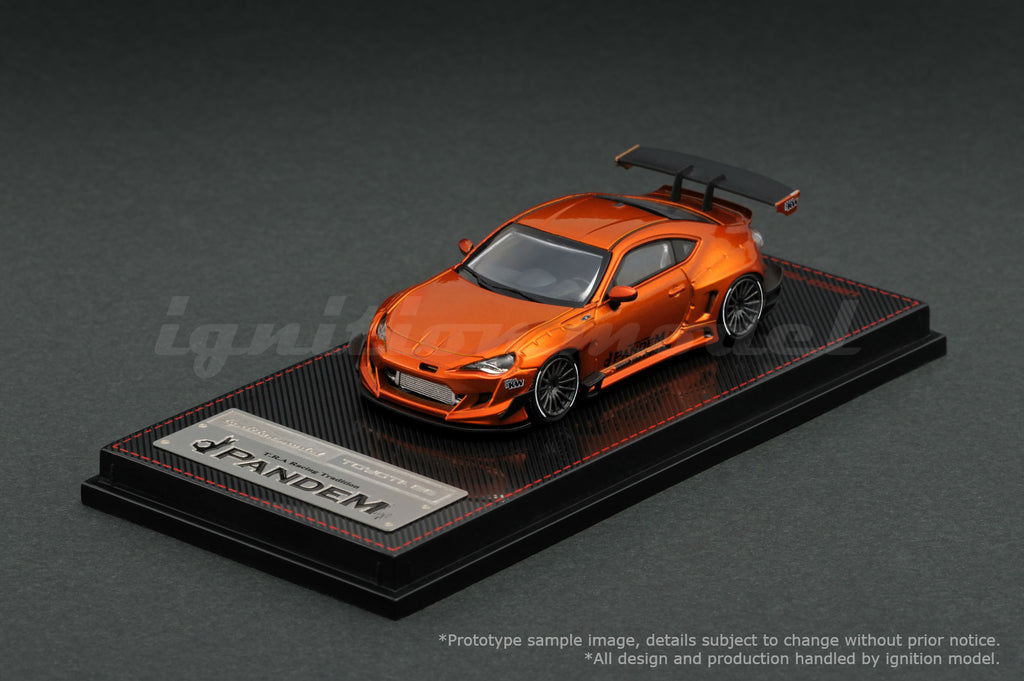 Ignition Model 1/64 PANDEM TOYOTA 86 V3 Orange Metallic